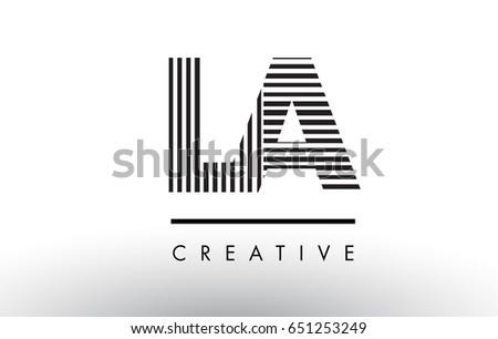 la l a black and white letter