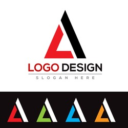 LA Letter Logo Design Template Vector EPS