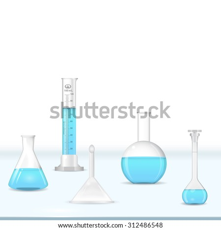 lab glassware kit on table