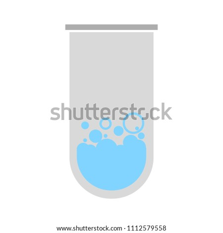 lab icon - vector laboratory flask - chemistry, science research equipment