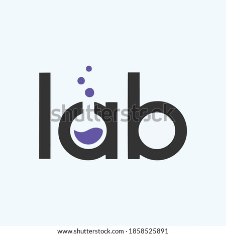 Lab Logo Template Design Vector. Lab logo template vector design with negative space logotype. Lab letter with logo design illustration
