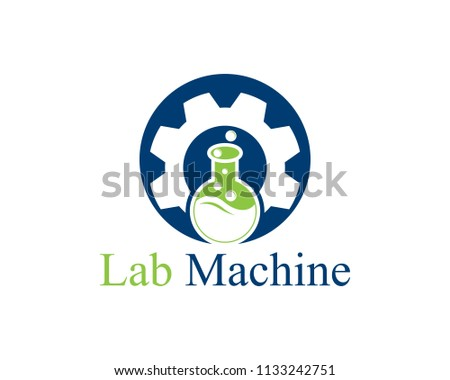 Lab machine icon logo vector template