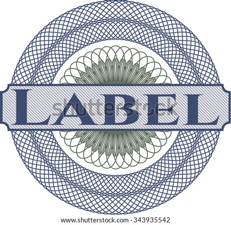 Label abstract linear rosette