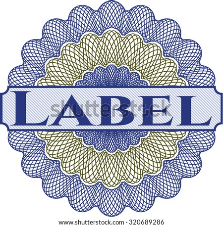 Label abstract rosette