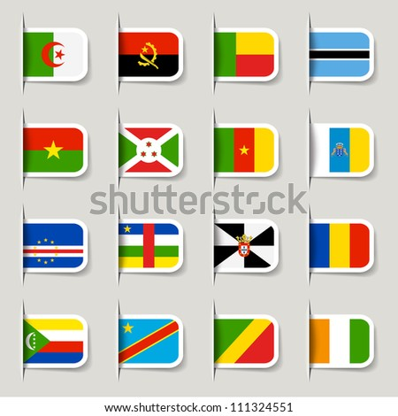 label   african flags