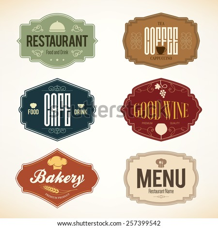 label and logo set for...