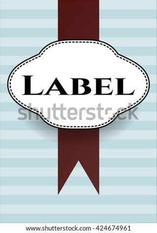 Label banner or card