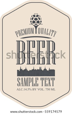 label beer with the old town and the malt