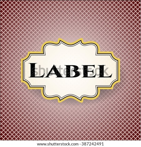 Label card with nice design