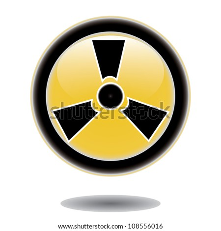 Label caution sign. Sticker radiation hazard symbol