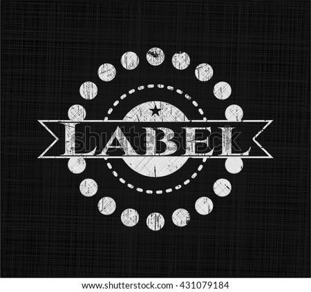 Label chalkboard emblem