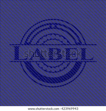 Label emblem with jean high quality background