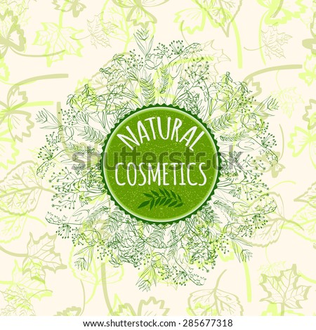 label for natural cosmetic