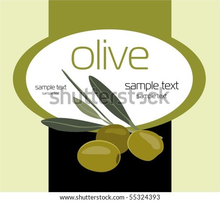 Label for product. Olives
