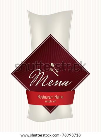 Label for restaurant, cafe and bar