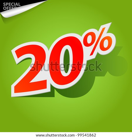 Label for special offers and sales discount. EPS10. Used effect transparency layers of shadow