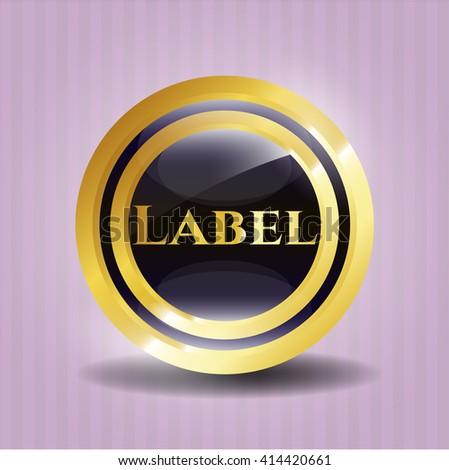 Label gold emblem or badge