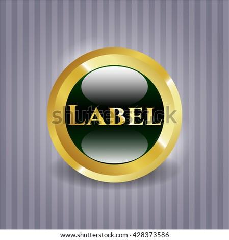 Label gold shiny emblem