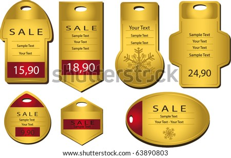 Label Gold template vector banner