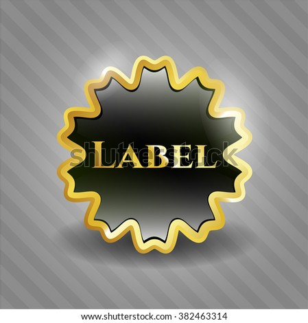 Label golden emblem