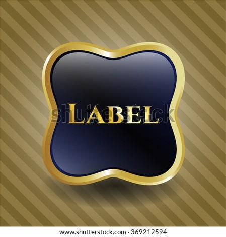 Label golden emblem or badge