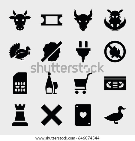 label icon set of 16 label
