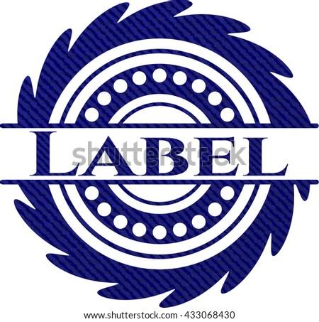 Label jean or denim emblem or badge background