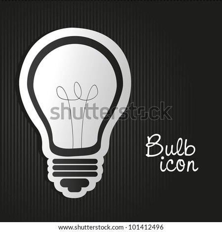 label light bulb on bottom lines