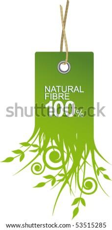 Label natural fiber