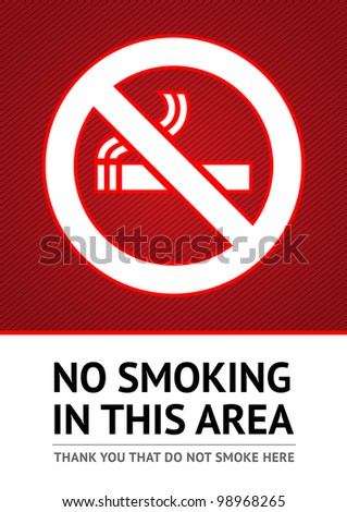 Label No smoking sticker. Vector 10eps