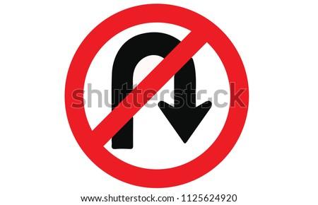 Label No u-turn