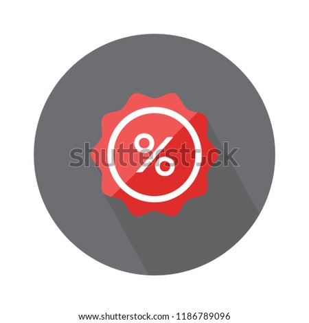 label percent icon. sale discount illustration - graphic price label