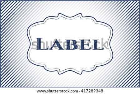 Label retro style card, banner or poster