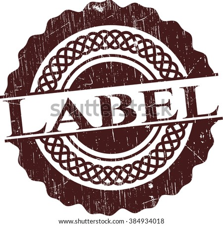 Label rubber seal with grunge texture