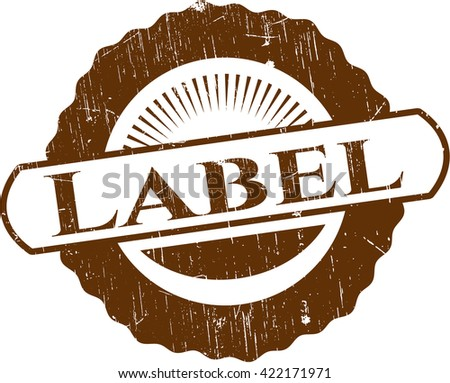Label rubber stamp