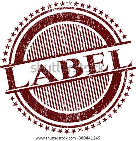 Label rubber texture