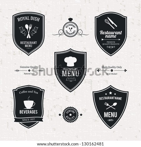 stock-vector-label-set-for-restaurant-and-cafe