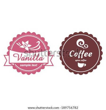 label set for sweets shop and...