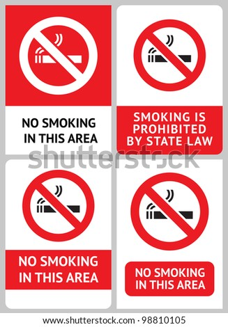 Label set No smoking