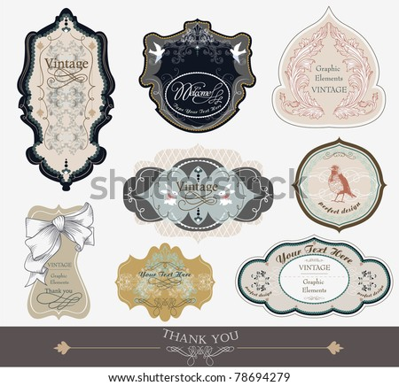 label tags for all kind of needs -scrapbook and wedding invitation card series