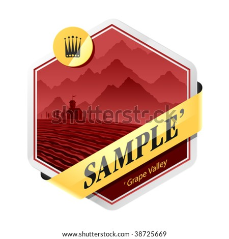 Label template. Vector illustration.