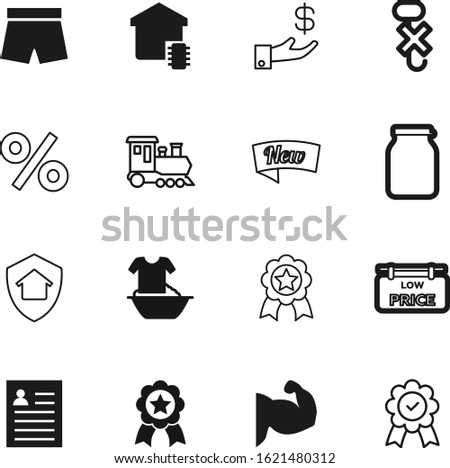 label vector icon set such as: shadow, hook, contact, buy, wealth, low, currency, homemade, construction, secure, hooks, access, smart, style, modern, wear, personal, plastic, obsolete, knowledge