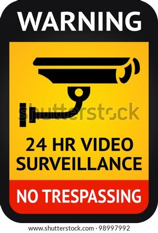 Label video surveillance symbol