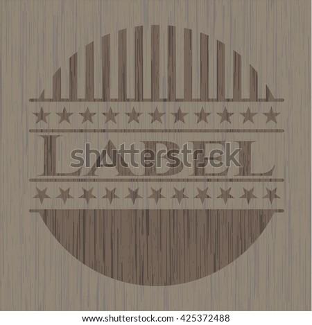 Label vintage wooden emblem