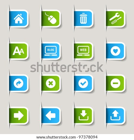 Label - Website and Internet Icons - stock vector