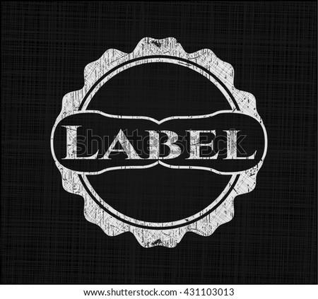 Label written with chalkboard texture