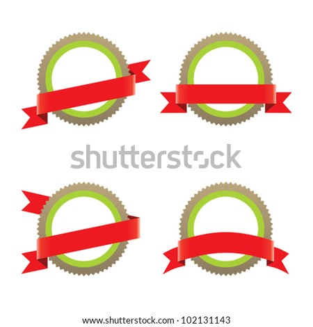 Labels and ribbon