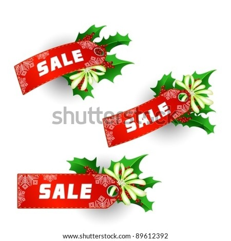 Labels for Christmas Sale
