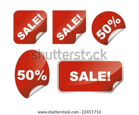 Labels sale set vector