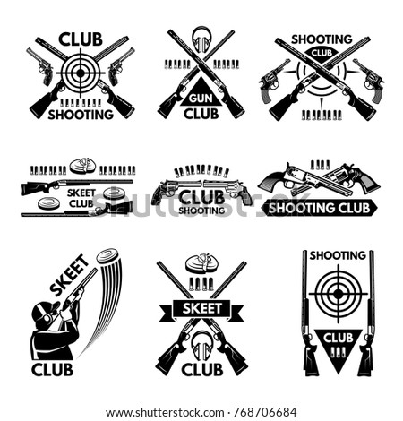 labels set for shooting club